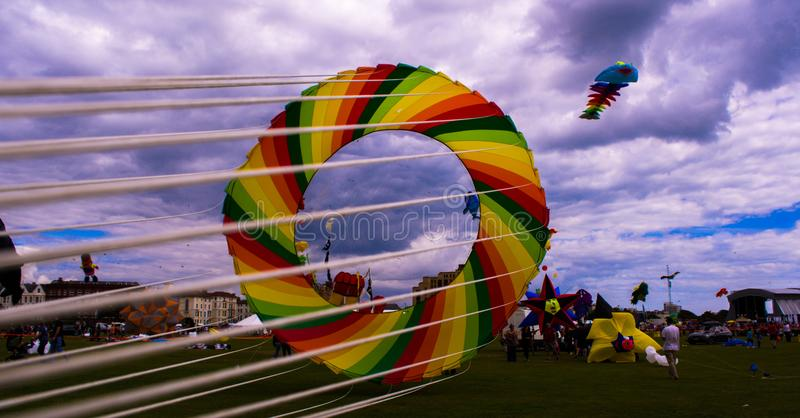 De Vliegerfestival 2015 van Portsmouth stock foto's