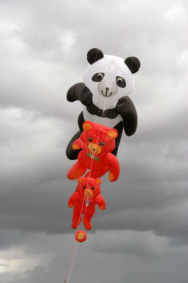 De Vliegers van de teddybeer royalty-vrije stock fotografie
