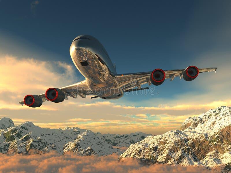 De vliegtuigen vector illustratie