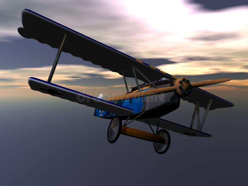 De Vliegtuigen van de Fokker royalty-vrije illustratie