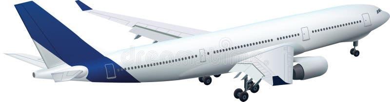 De vliegtuigen van de luchtbus A330 het landen vector illustratie