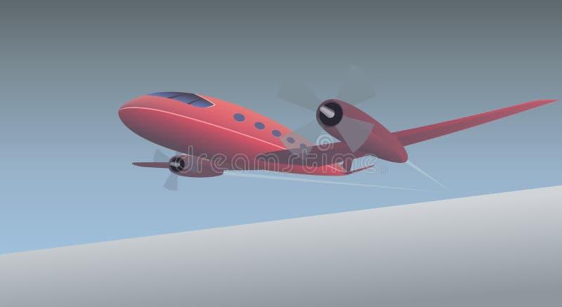 De vliegtuigen van de propeller vector illustratie