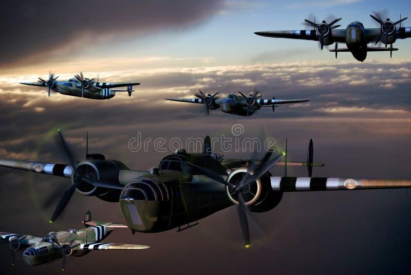De Vliegtuigen van de Wereldoorlog II vector illustratie