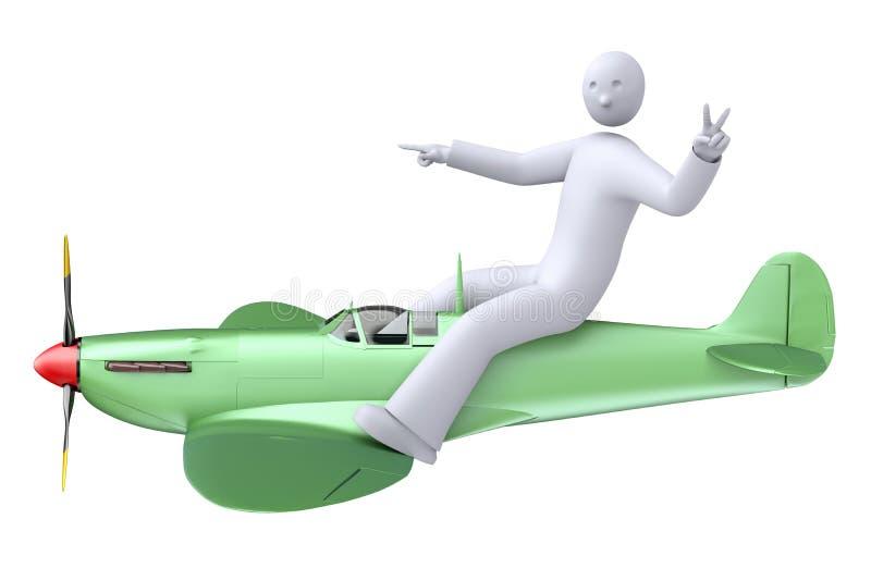 Proef vliegend het vliegtuig vector illustratie