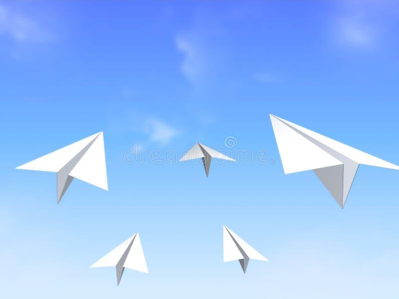 De vliegtuigen van het document royalty-vrije illustratie