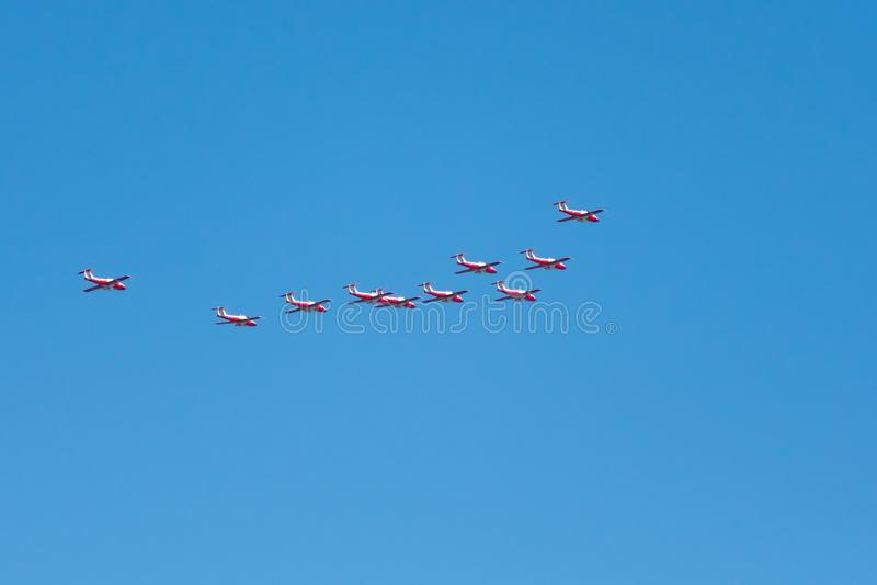 De vliegtuigen van koninklijke Canadese Luchtmachtrcaf in San Francisco, Californië, de V.S. royalty-vrije stock afbeelding