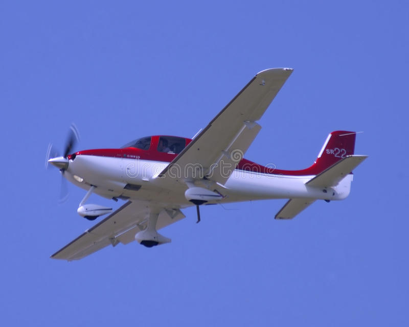 De vliegtuigen van Pirvate op benadering royalty-vrije stock fotografie