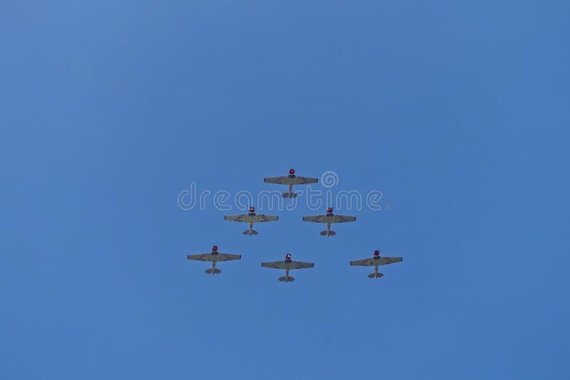 De vliegtuigen van de propellervechter stock fotografie