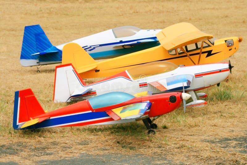 De vliegtuigen van Rc stock afbeelding