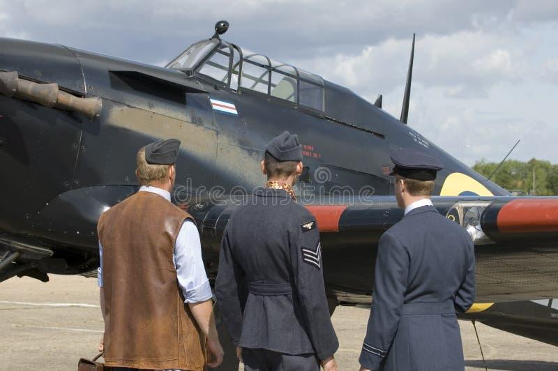 De vliegtuigen van WO.II in Duxford airshow royalty-vrije stock afbeelding