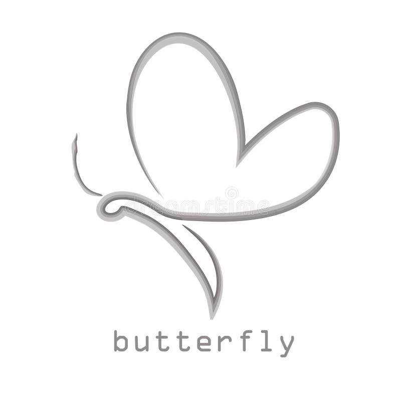 De vlinder, embleem, schoonheid, levensstijl, zorg, ontspant, yoga, samenvatting, vleugels, ontwerpvector vector illustratie