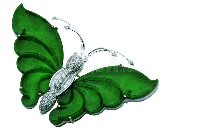 De Vlinder van de jade stock illustratie
