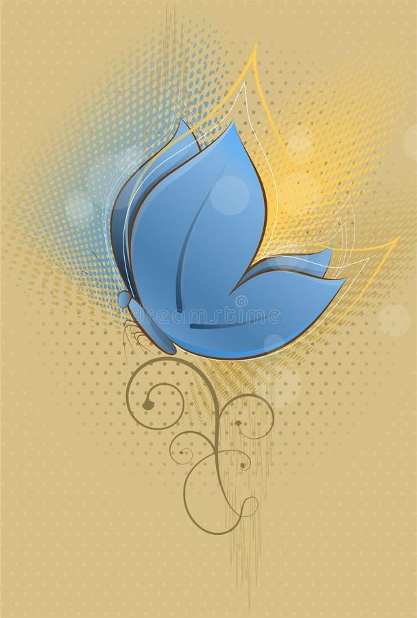 De Vlinder van de lente royalty-vrije illustratie