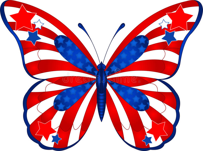 De vlinder van de V.S. stock illustratie