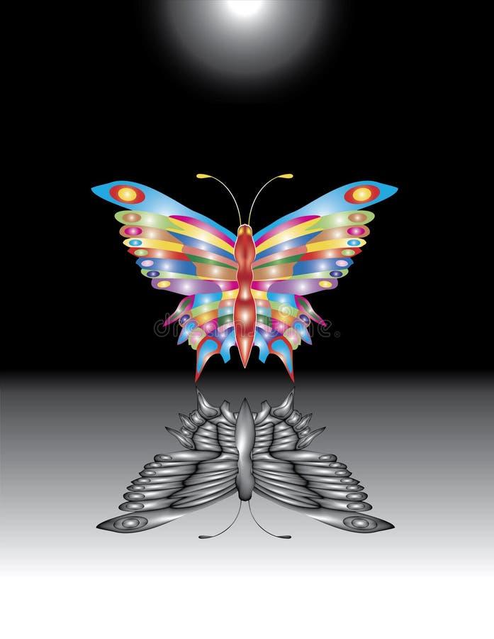 De vlinder van het decor. vector illustratie