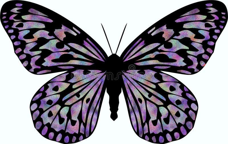 De Vlinder van het fluweel royalty-vrije illustratie