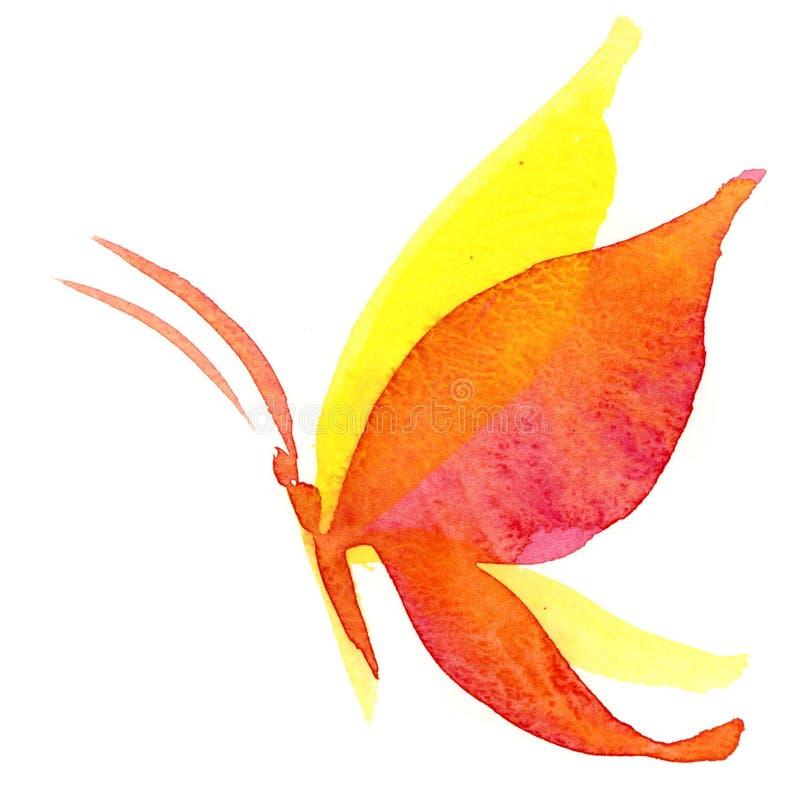 De Vlinder Van Watercolour Royalty-vrije Stock Foto