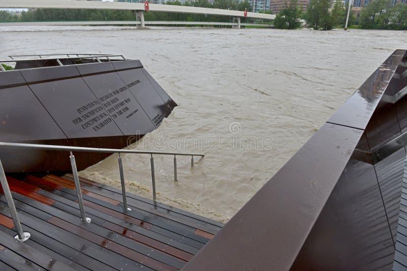De Vloed 2013 Van Calgary Redactionele Foto