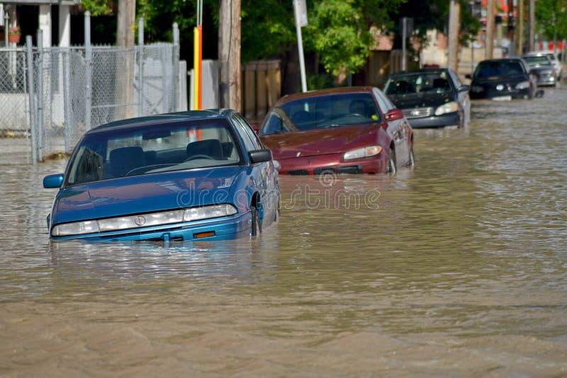 De Vloed 2013 van Calgary stock afbeeldingen