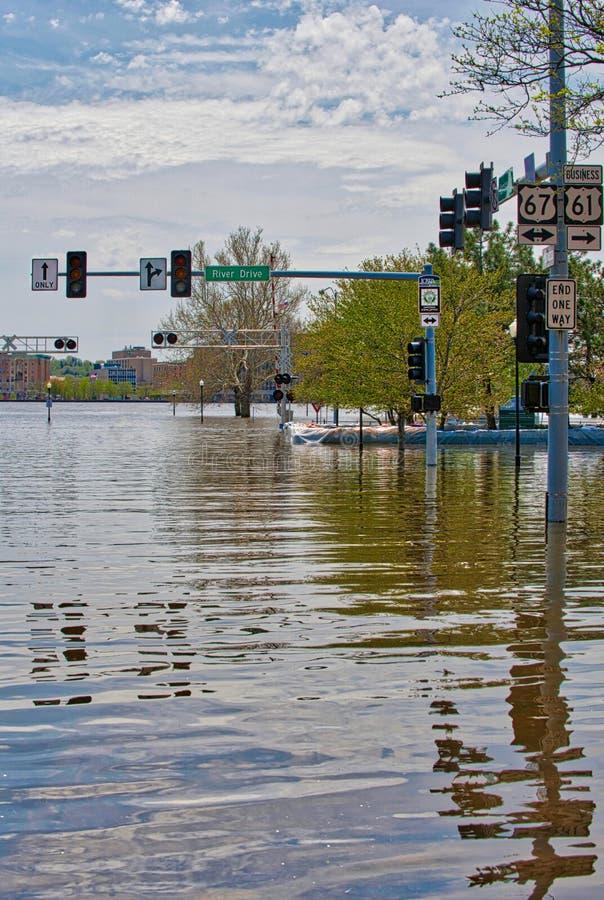 2019 de Vloed van Davenport Iowa royalty-vrije stock afbeelding