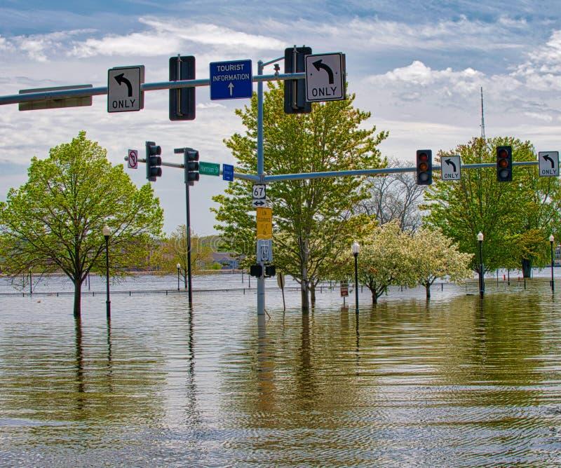 2019 de Vloed van Davenport Iowa royalty-vrije stock fotografie