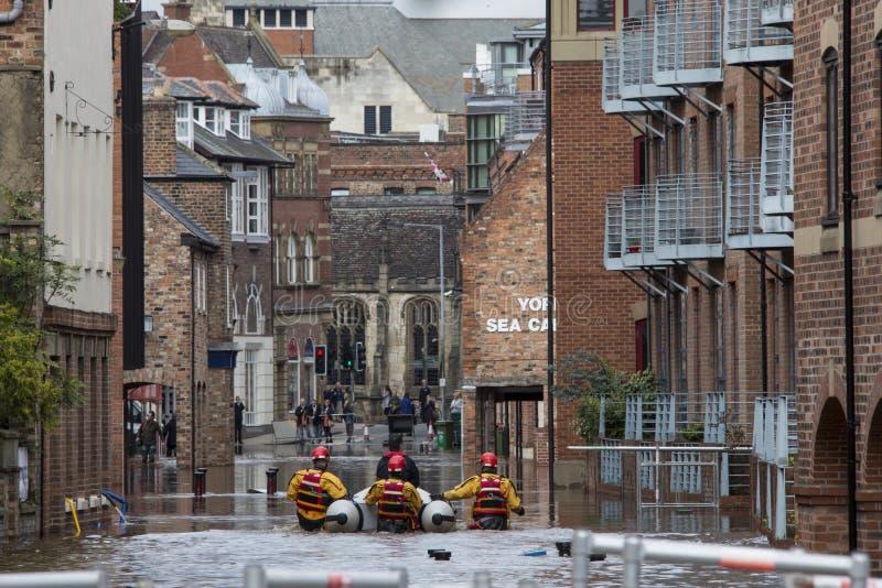 De Vloed van York - Sept.2012 - het UK stock fotografie