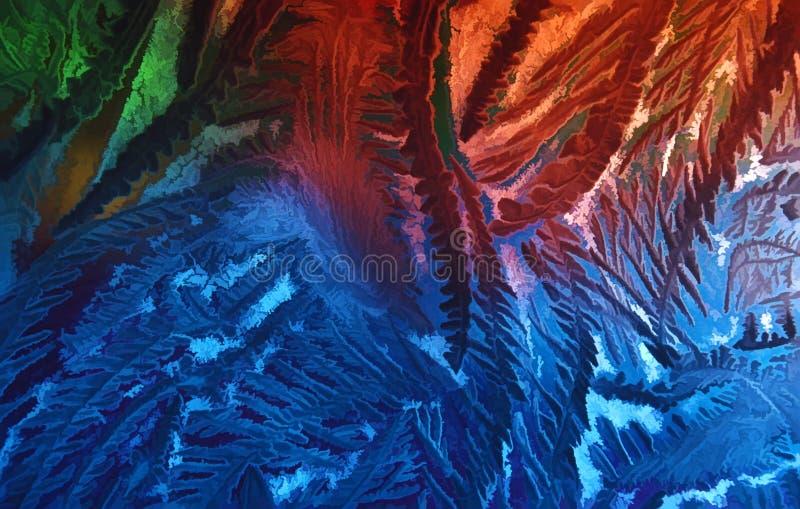 De vloeibare Abstracte Achtergrond van Bladeren stock foto