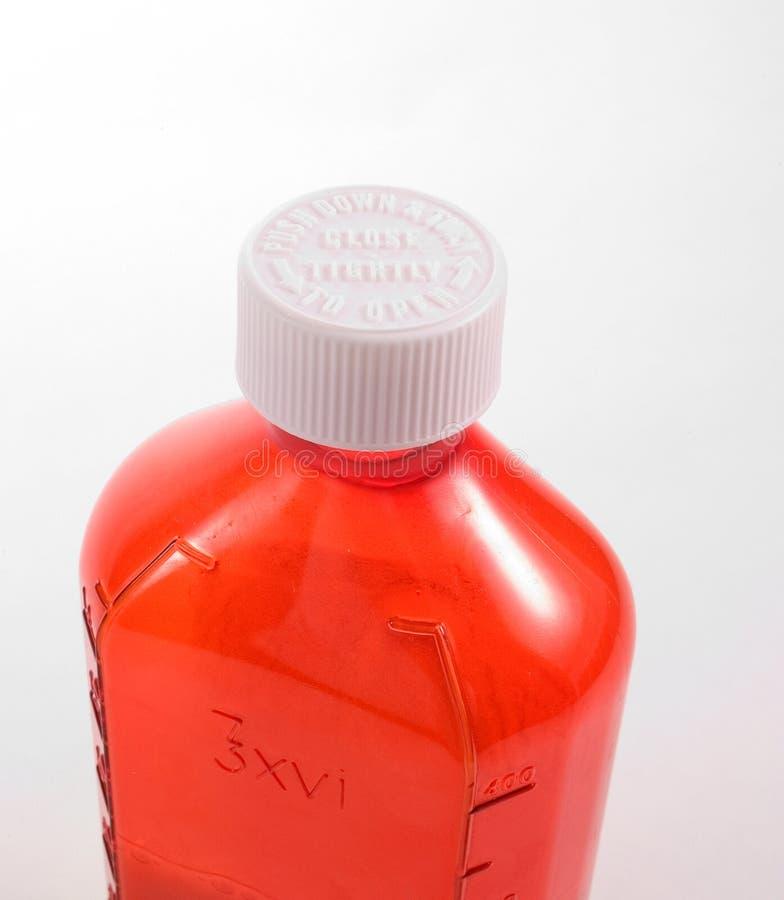 De Vloeibare Fles Van De Geneeskunde Royalty-vrije Stock Foto's