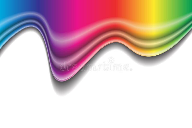 De vloeibare vorm van de regenboog royalty-vrije illustratie