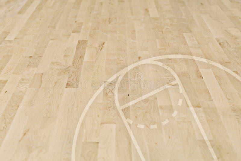 De vloer van het basketbal stock afbeelding