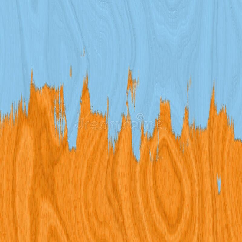 De vloer van het hardhout en blauwe verf vector illustratie