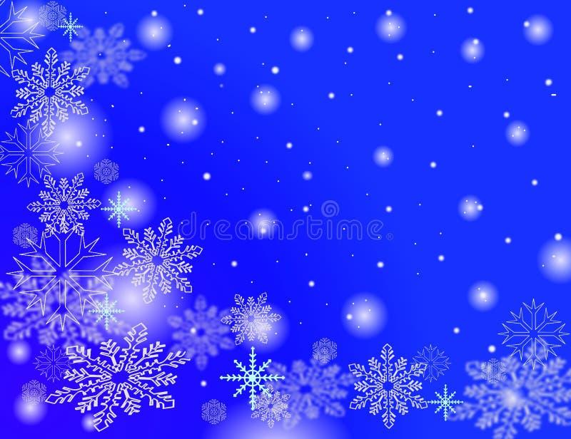 De vlokken van de sneeuw het vallen stock illustratie
