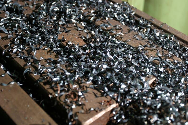 De vlokken van het zink stock afbeelding