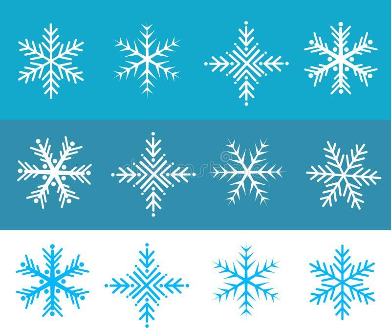 De vlokkenvector van de sneeuw stock illustratie