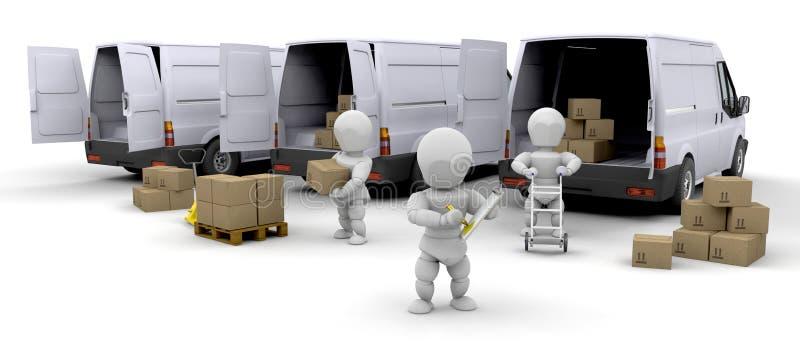 De vloot van de levering vector illustratie