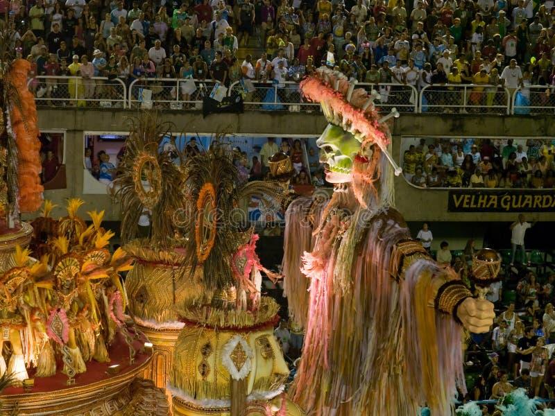 De vlotter van Flor van Beija, Rio Carnaval 2008. royalty-vrije stock afbeeldingen
