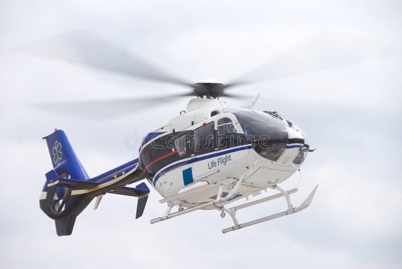 De Vlucht Helecopter van het leven stock afbeelding