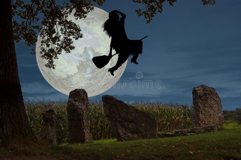 De vlucht van de heks royalty-vrije stock afbeelding