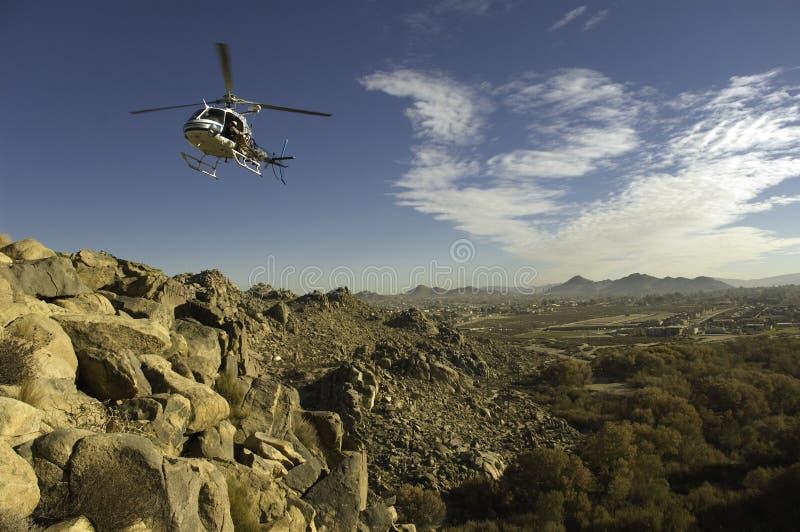 De Vlucht van de helikopter stock foto