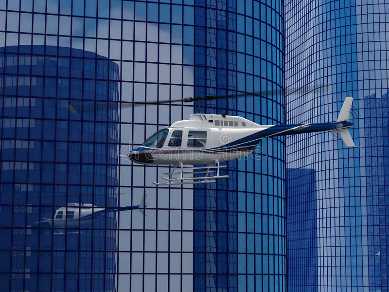 De vlucht van de helikopter stock foto's
