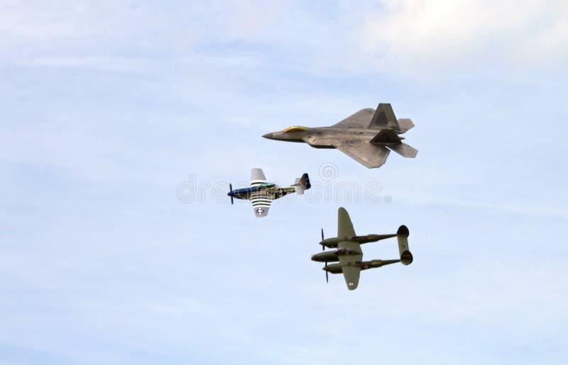 De Vlucht van de luchtmachterfenis royalty-vrije stock foto