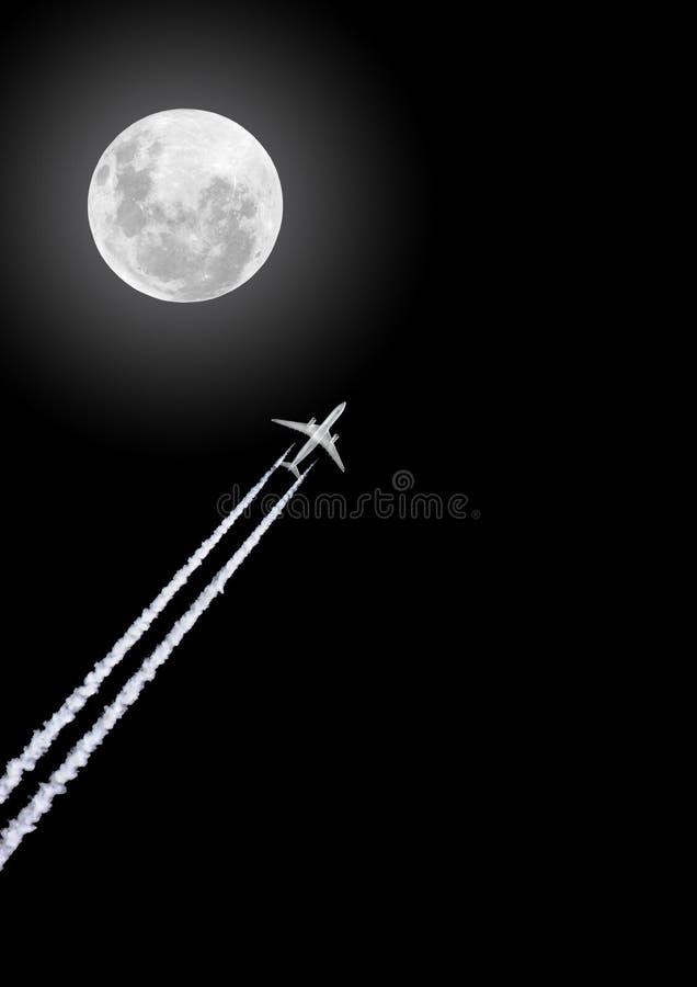 De Vlucht van de nacht stock foto's