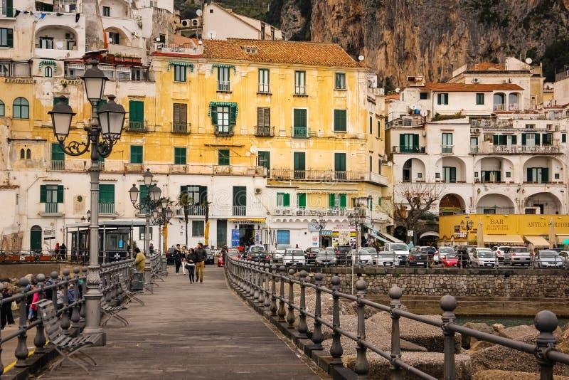 De vlucht van de vogel - 1 Amalfi Campania Itali? stock foto