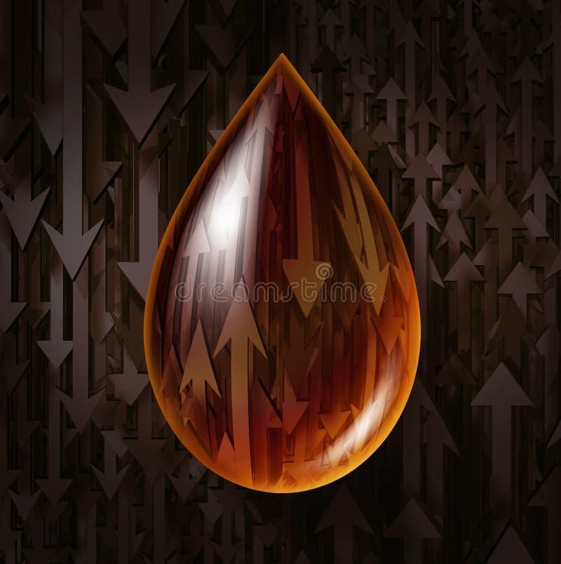 De Vluchtigheid van de olieindustrie vector illustratie