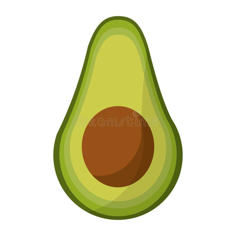 De voedingspictogram van de avocadooogst vector illustratie