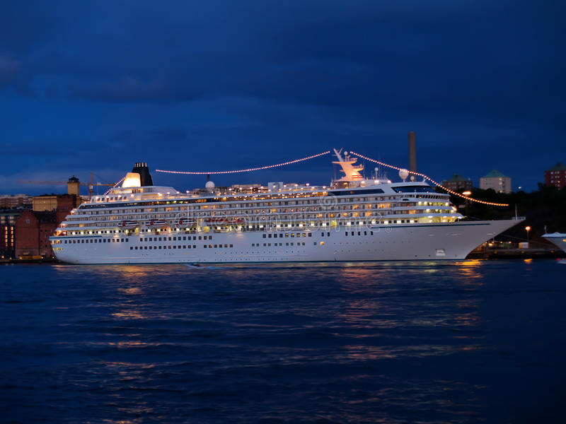De voering van de cruise stock foto's