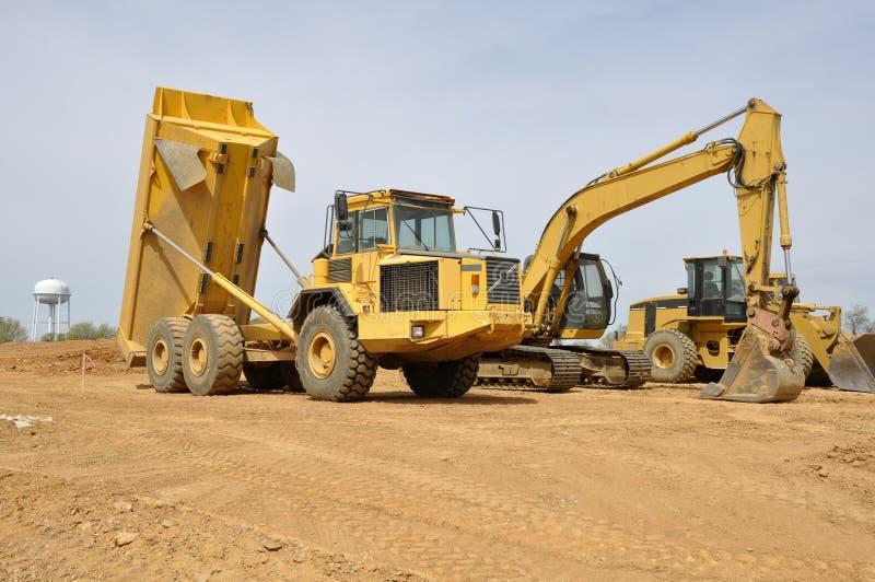 De voertuigen van de bouw stock foto's