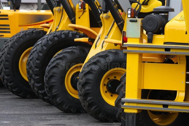 De voertuigen van de bouw royalty-vrije stock afbeelding