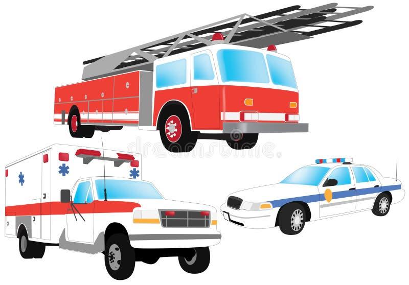 De voertuigen van de noodsituatie stock illustratie