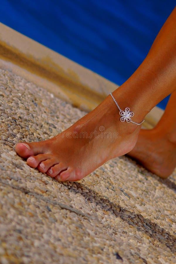 De voet van de vrouw royalty-vrije stock foto's